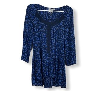 HD in Paris Anthropologie tunic top Blue small